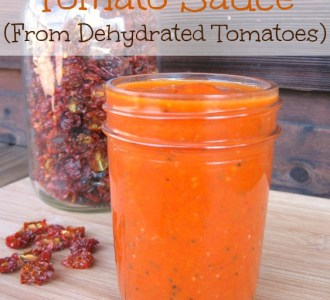Fast and Easy Tomato Sauce From Dehydrated Tomatoes on gracefullittlehoneybee.com