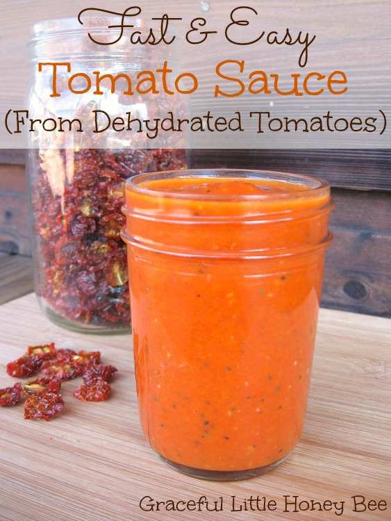 Learn how to make this fast and easy tomato sauce using dehydrated tomatoes!