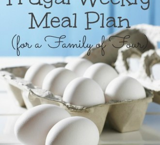 Our Frugal Weekly Meal Plan on gracefullittlehoneybee.com