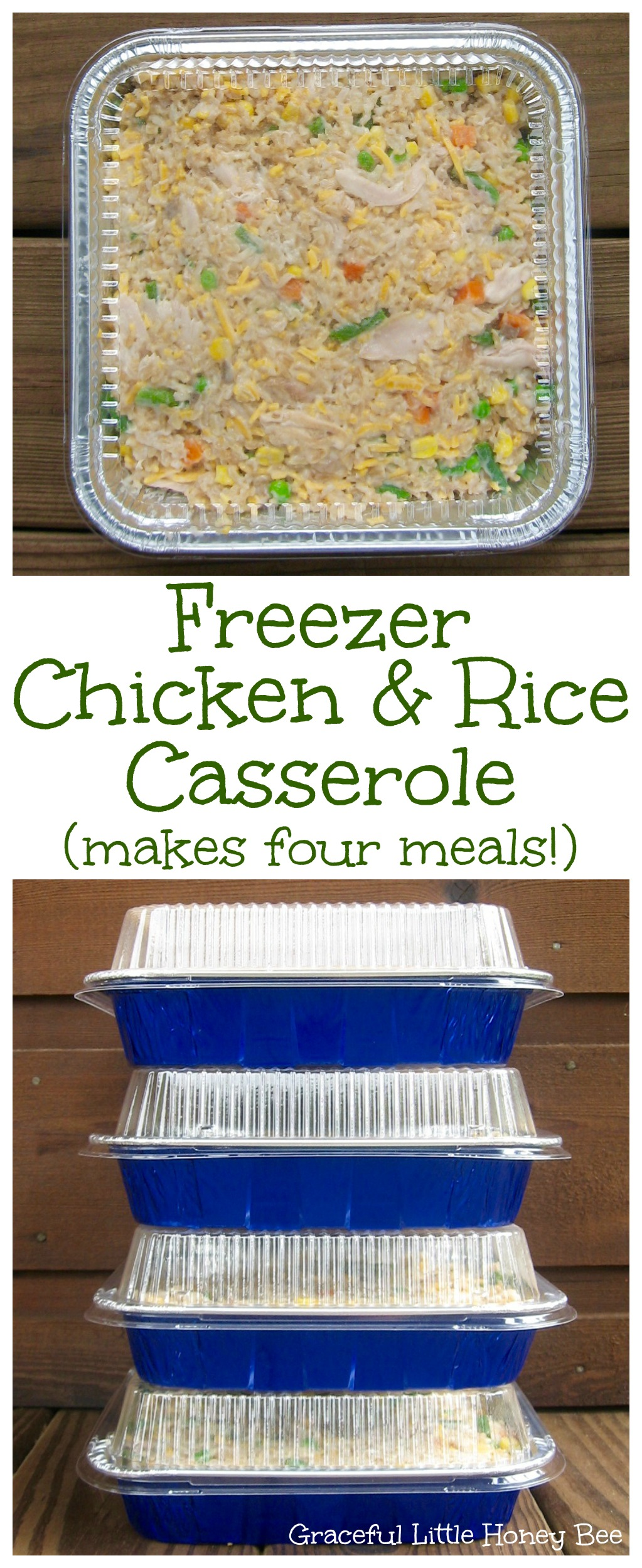 Freezer chicken rice casserole graceful little honey bee try this easy dinner recipe for freezer chicken and rice casserole that makes four meals at forumfinder Image collections