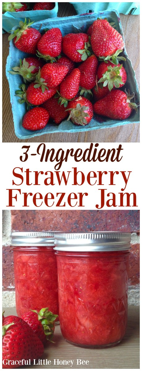 Strawberry Freezer Jam with Video