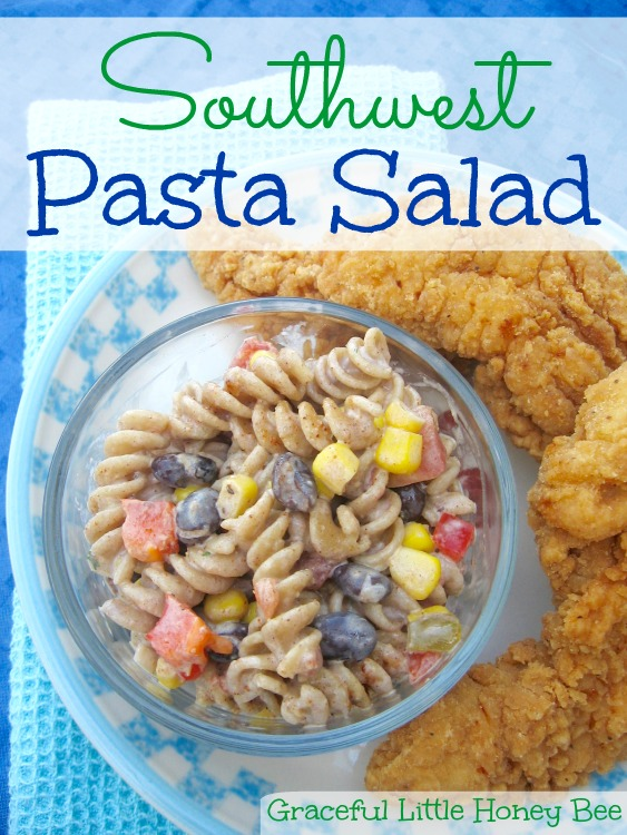 Learn how to make this easy and delicious Southwest Pasta Salad for your next BBQ!
