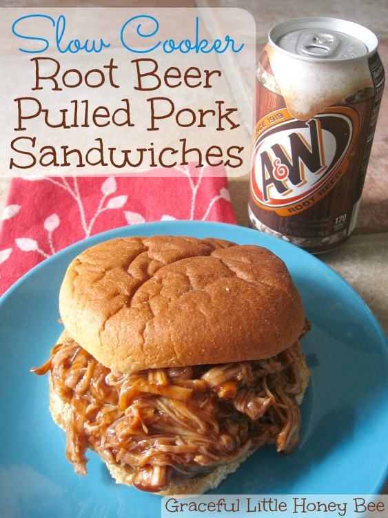 Slow Cooker Root Beer Pulled Pork Sandwiches - Graceful ...