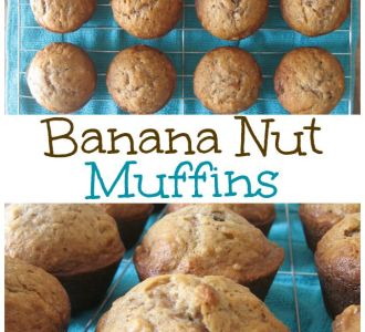 Easy Banana Nut Muffin Recipe on gracefullittlehoneybee.com