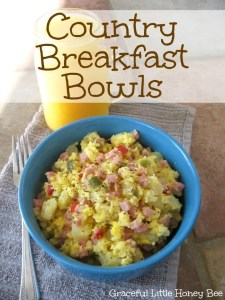 Easy Country Breakfast Bowls on gracefullittlehoneybee.com
