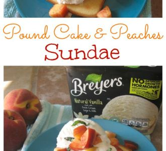 Pound Cake and Peaches Sundae on gracefullittlehoneybee.com