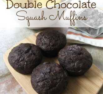 See how to make these delicious double chocolate squash muffins on gracefullittlehoneybee.com