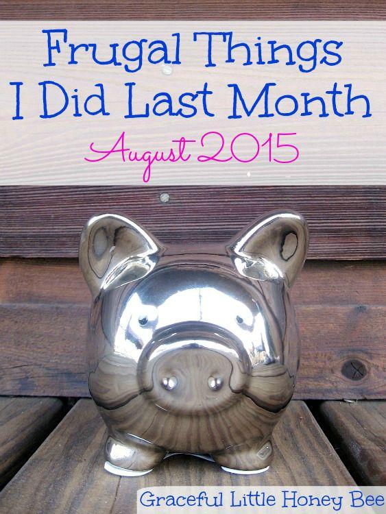 Frugal Things August