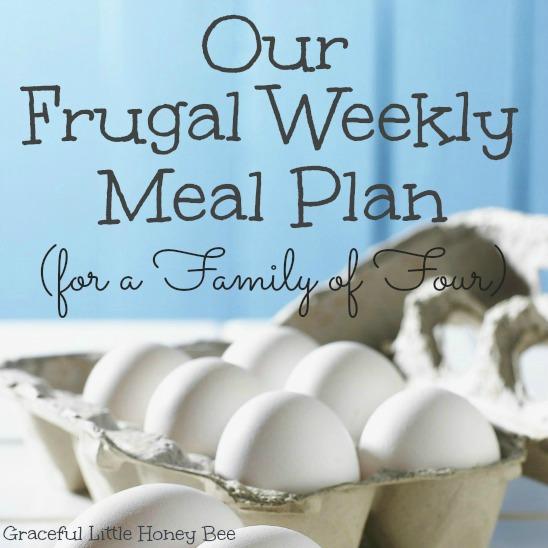 Frugal Weekly Meal Plan Square