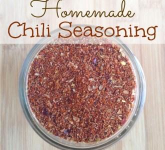 Learn how to make this easy homemade chili seasoning on gracefullittlehoneybee.com