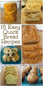 Check out this amazing list of delicious and easy quick bread recipes including rolls, biscuits, muffins and more on gracefullittlehoneybee.com