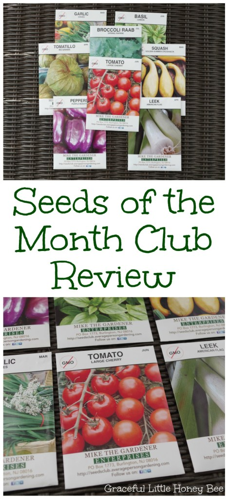 See my full review on The Seeds of the Month Club which sends open-pollinated NON-GMO heirloom seeds straight to your mailbox each month.