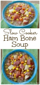 Make a rich and satisfying soup using your leftover ham bone as the base in your slow cooker.