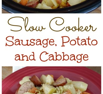 Try this tangy and delicious Slow Cooker Sausage, Potato and Cabbage recipe on gracefullittlehoneybee.com
