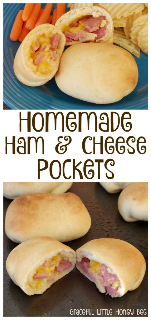 Try these delicious homemade ham and cheese pockets for a meal that you're family will love!