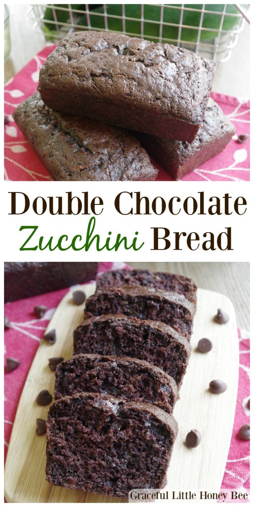 Chocolate Zucchini Bread on wooden cutting board.