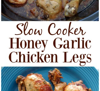 Try this quick and easy Slow Cooker Honey Garlic Chicken Leg recipe on gracefullittlehoneybee.com