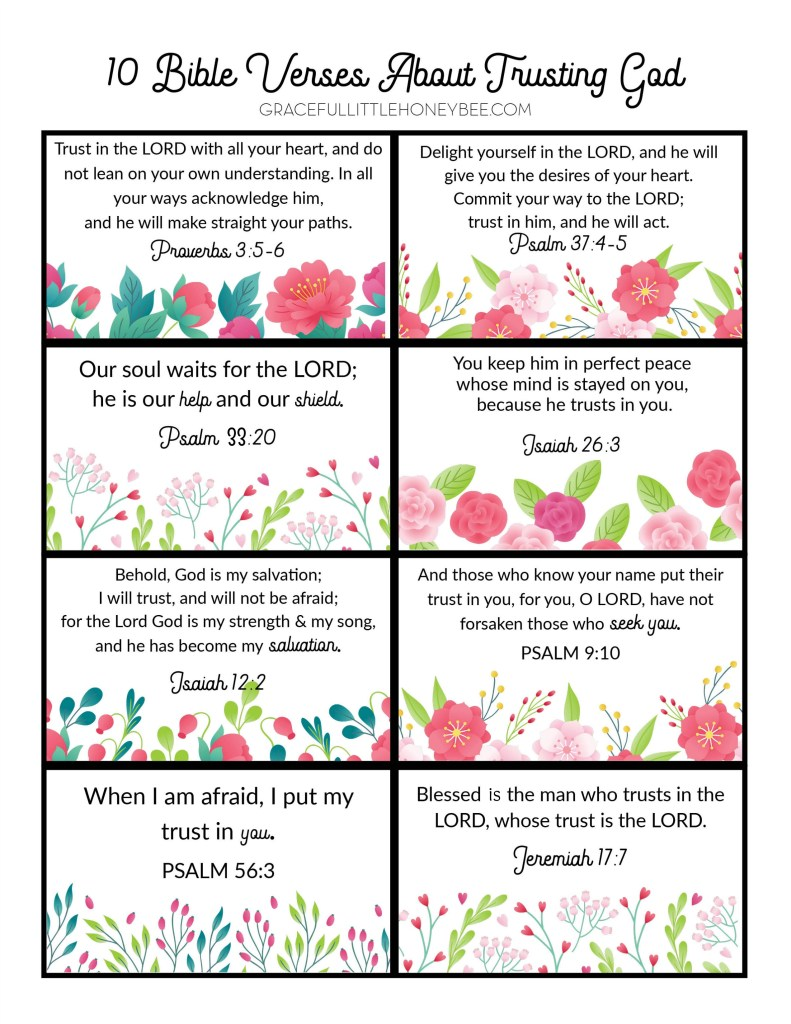 Scripture memory verse cards.