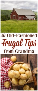 Learn how to save money like a pro with this list of 30 Old-Fashioned Frugal Tips From Grandma on gracefullittlehoneybee.com