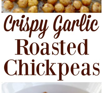 Crispy Garlic Roasted Chickpeas