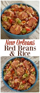 Try this classic New Orleans Red Beans and Rice dish for a quick and delicious weeknight dinner on gracefullittlehoneybee.com