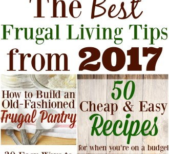 The Best Frugal Living Tips from 2017