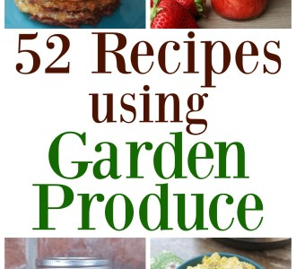 Check out this MEGA list of recipes using garden produce on gracefullittlehoneybee.com