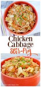 Need a quick and healthy low-carb dinner? Try this easy and delicious Chicken Cabbage Stir-Fry on gracefullittlehoneybee.com