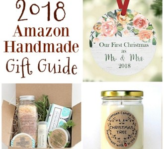Check out this gift guide with gifts from Amazon Handmade for everyone on your list!