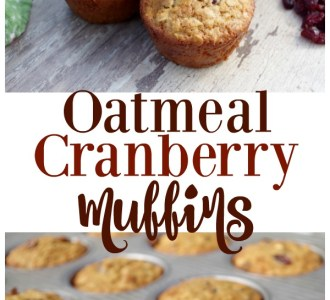 Want a quick and healthy breakfast? Try these super easy and delicous Oatmeal Cranberry Muffins that your family is sure to love on gracefulittlehoneybee.com #breakfast #muffin #muffins #healthy #cranberry #oatmeal