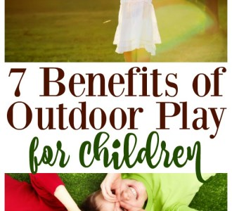 Check out these 7 Benefits of Outdoor Play for Children including improved sleep and balance on gracefullittlehoneybee.com