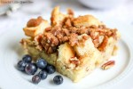 This delicious Overnight French Toast Bake is really easy to put together the night before and pop in the oven in the morning! Find the recipe at gracefullittlehoneybee.com