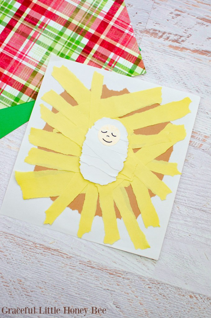 This kids are going to love making this Torn Paper Manger Christmas Craft this holiday season! Find the tutorial at gracefullittlehoneybee.com