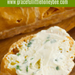 Parsley Butter on a thick slice of toast.