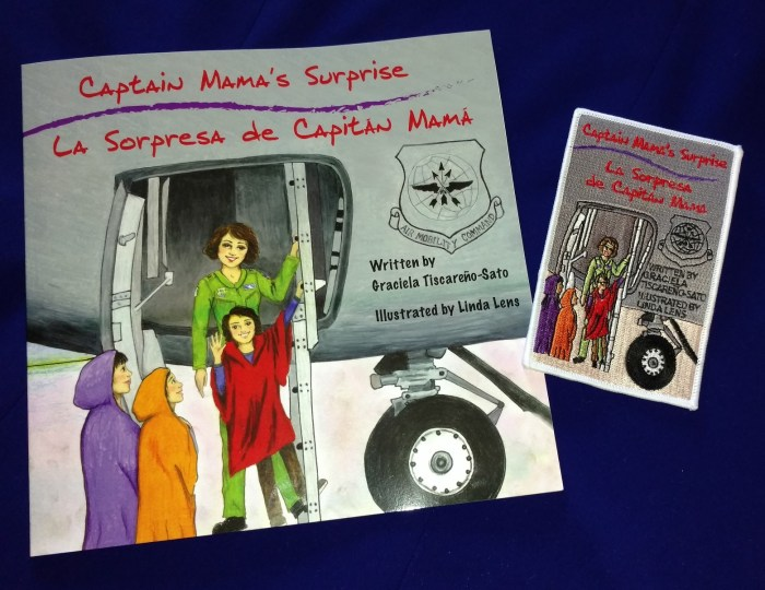 Captain Mama's Surprise/La Sorpresa de Capitán Mamá - Book #2 (Personalized) + Patch