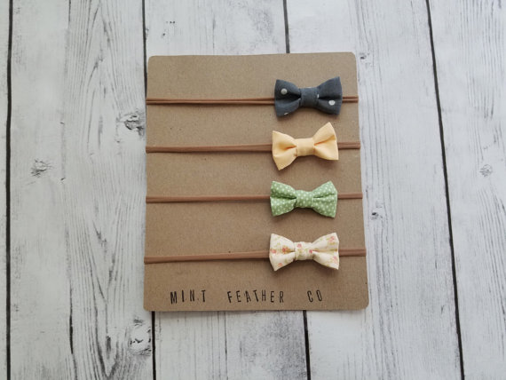Mint Feather Co. - A super lovely bow shop on Etsy. The cutest prints. They even sell bowties! Read more at Gracefulmommy.com