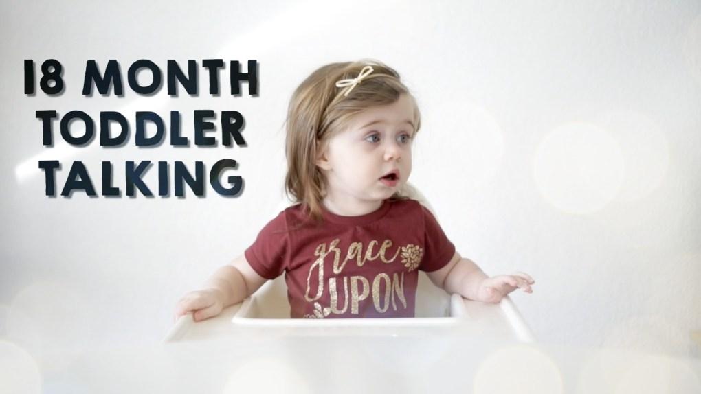 18 month Toddler talking