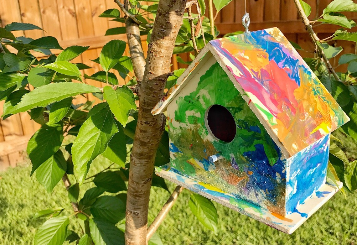 Painted Birdhouse Craft For Toddlers Grace Giggles And Naptime