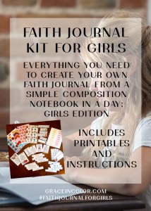 Girls Faith Journal Kit by Grace in Color