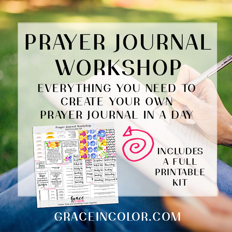 Prayer Journal Workshop by Grace in Color