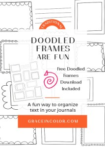 Free page of 10 doodled frames, boxes