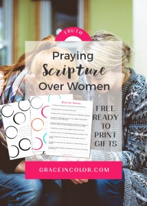 Pray over Women, free printable