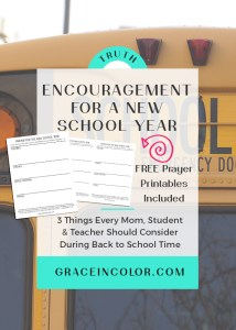 Encouragement for a New School Year