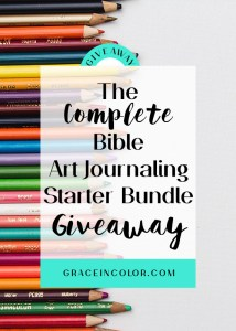 Complete Bible Art Journaling Starter Bundle Giveaway