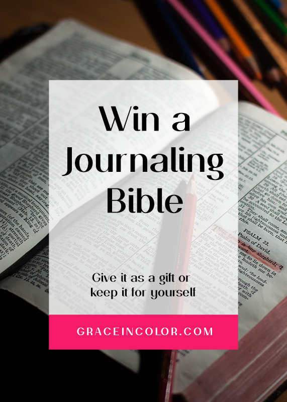 Win a Journaling Bible Giveaway