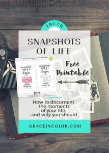 Snapshots of life: how to document the moments in life and why you should