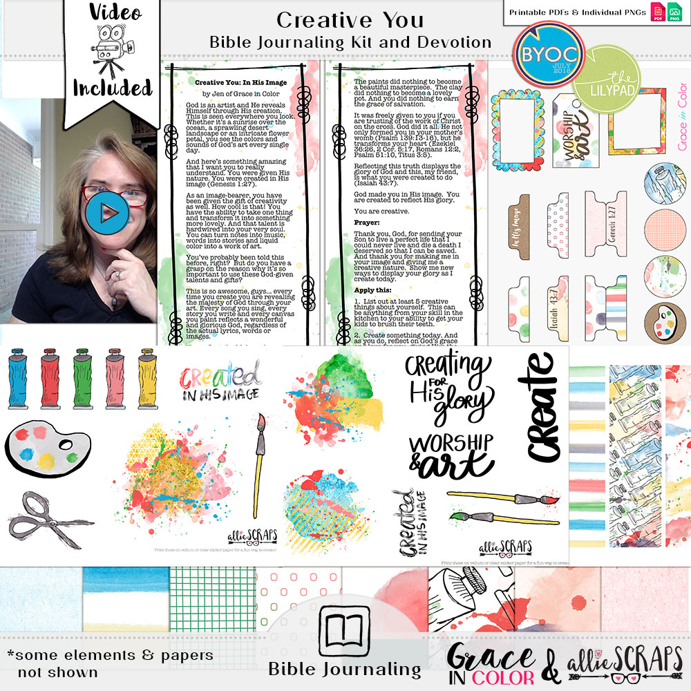 Creative You Bible Journaling Kit and Devotional