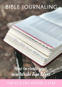 Bible Journaling: How to add washi tape edges to your Bible by Grace in Color {video}