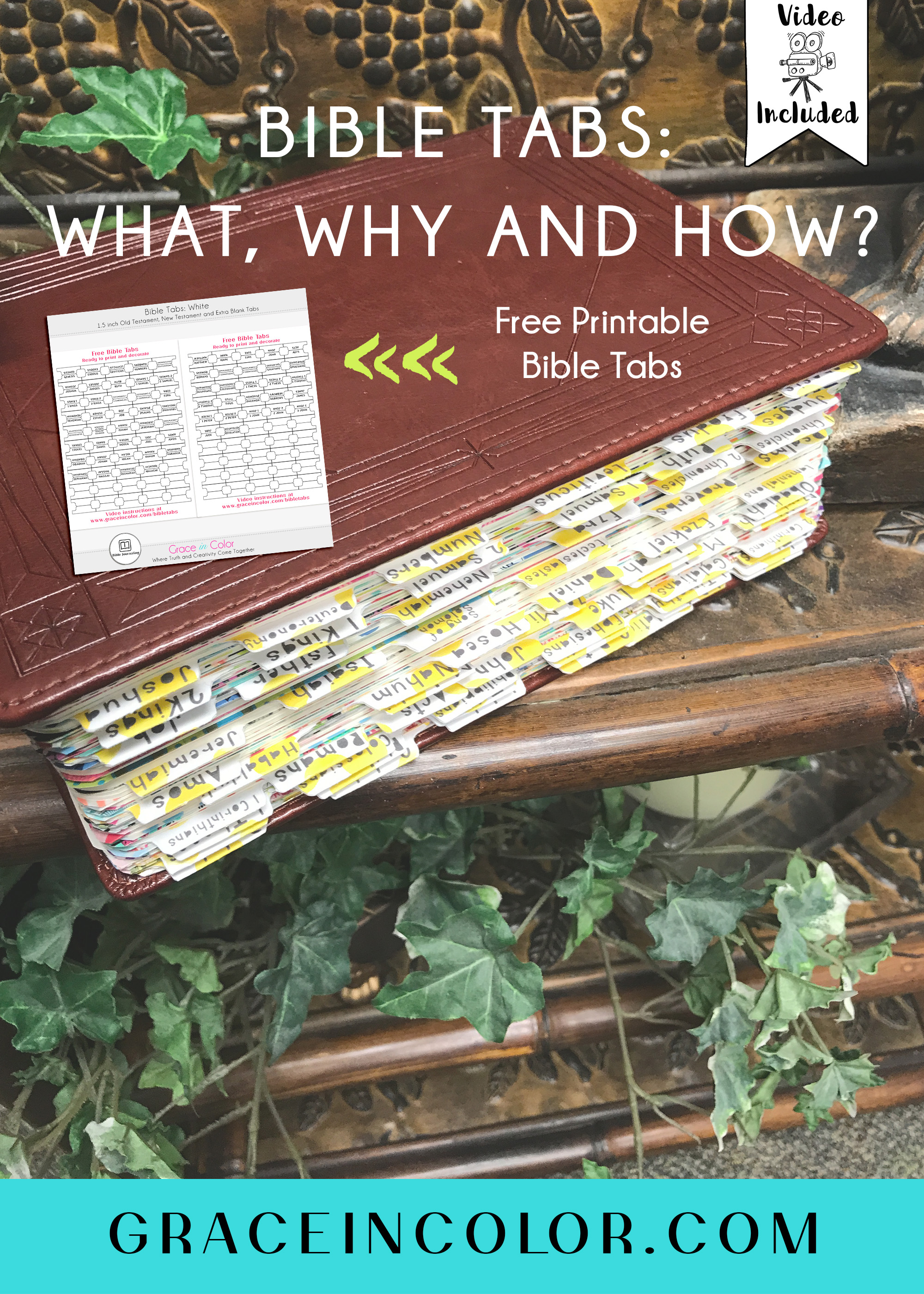 graphic regarding Printable Bible Tabs named Bible Tabs: What, Why and How Movie - Grace in just Coloration