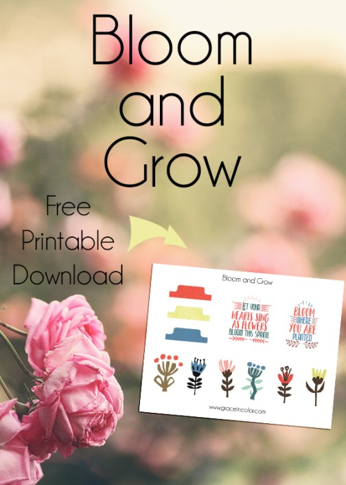 Bloom and Grow: Grace in Color free printable, The Lilypad